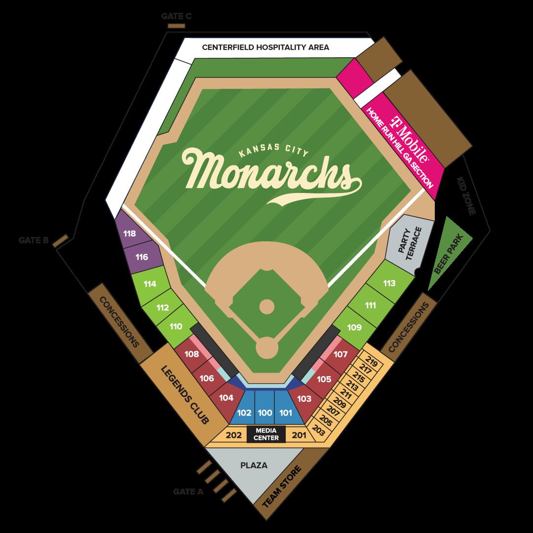 Kansas City Monarchs Seating Chart